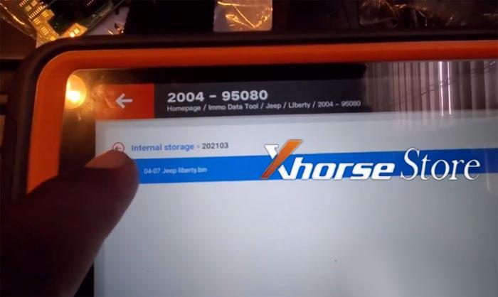 Xhorse key tool plus test skim 95080 pin read on jeep
