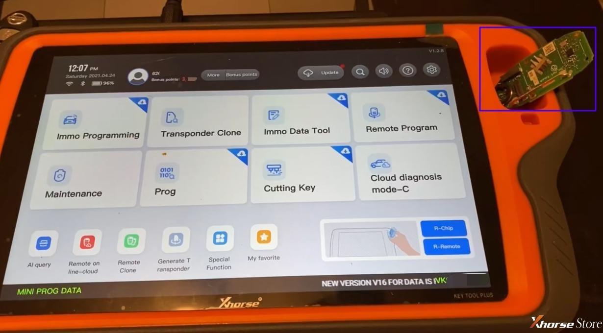 VVDI Key Tool Plus Unlock Smart key with Key Renew Adapter Guide