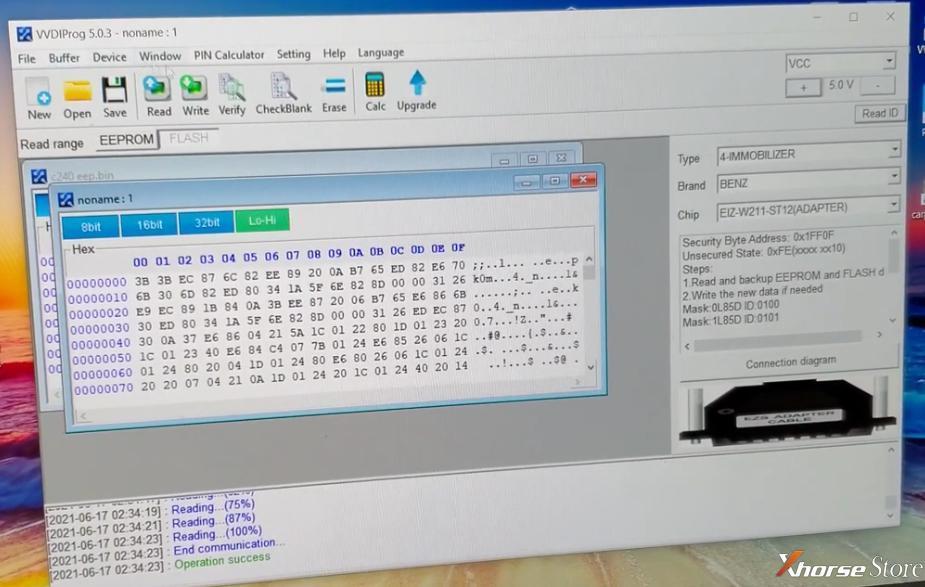 Benz W211 AKL programming by Xhorse VVDI Key Tool Plus