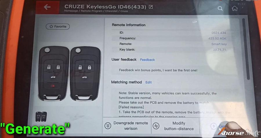 Xhorse VVDI KeyTool Plus Program Chevrolet ID46 Smart Key