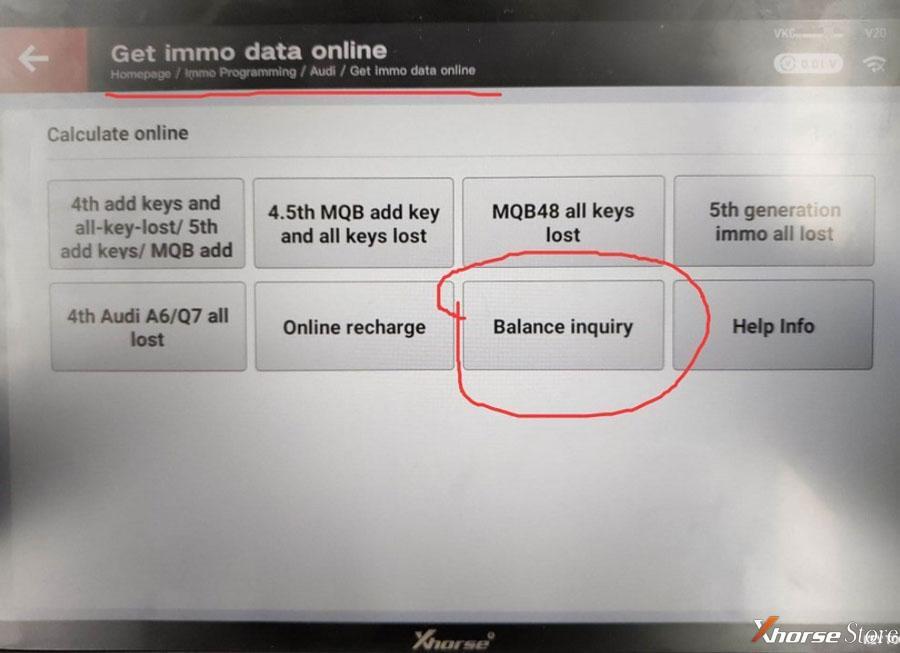 check tokens balance in Xhorse VVDI Key Tool Plus