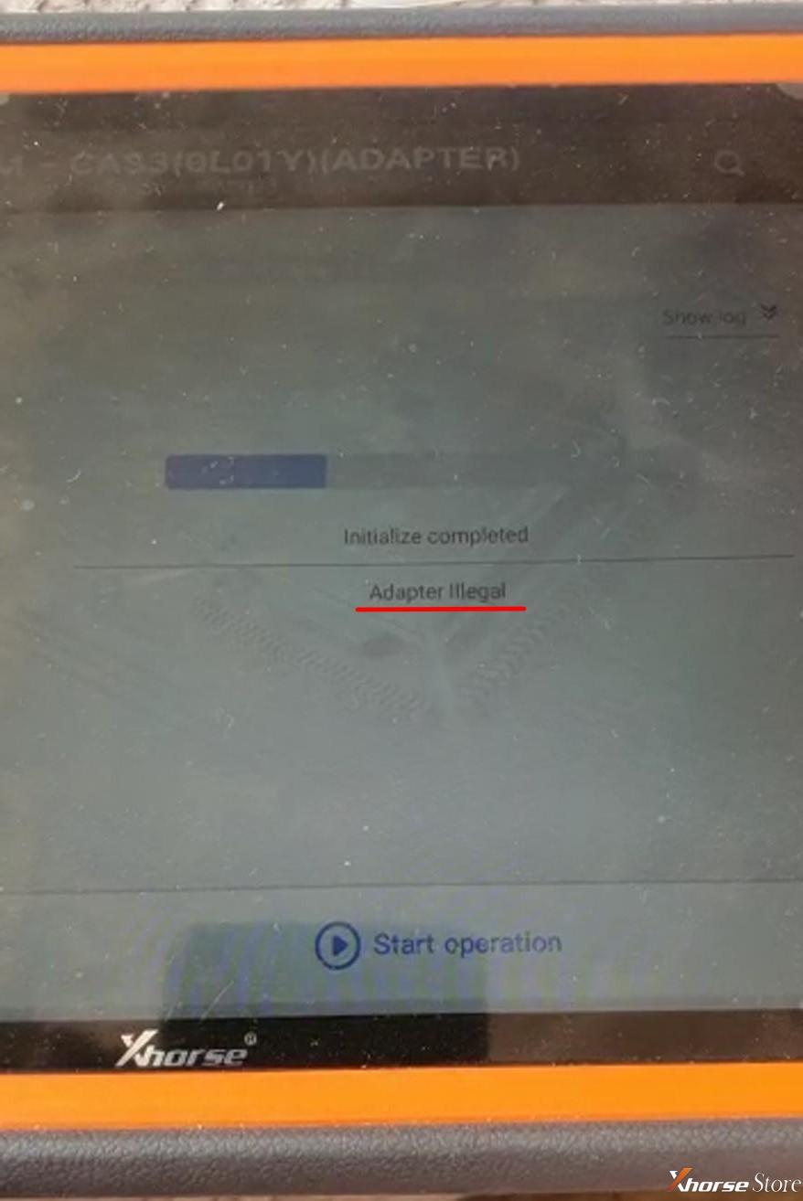 fix Xhorse VVDI Key Tool Plus Adapter Illegal Error