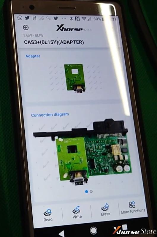 Read BMW CAS3+ by Xhorse VVDI MINI Prog& Solder-free Adapter