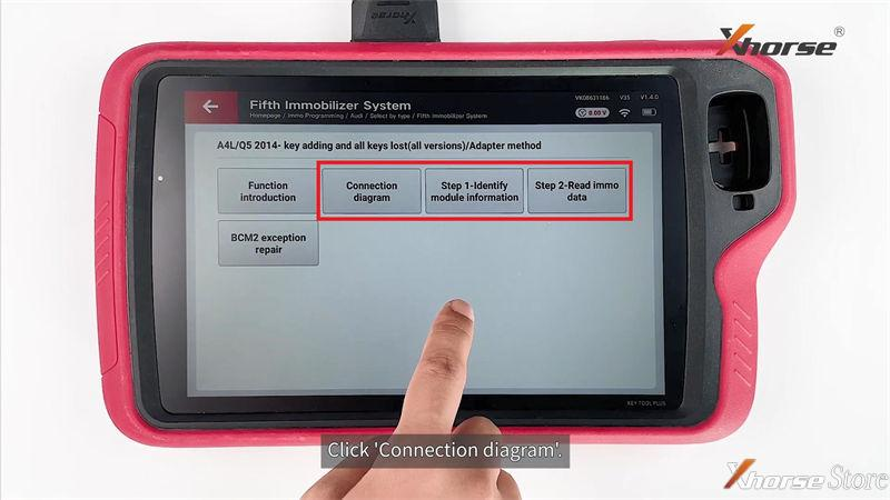 Audi BCM2 Solder-free Adapter Works with Xhorse Key Tool Plus